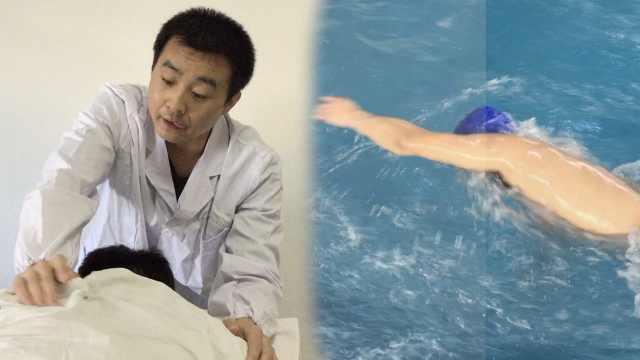 盲人按摩师是游泳健将,夺40块奖牌