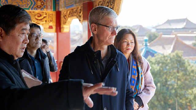 库克又来中国:游故宫感受中国文化