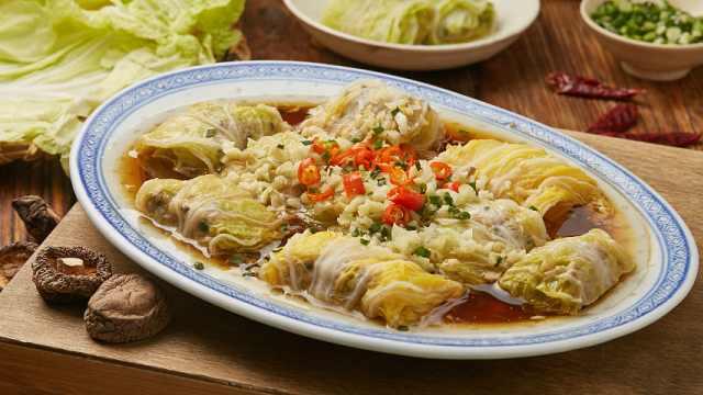 大白菜吃不腻,做个酿菜上档次!