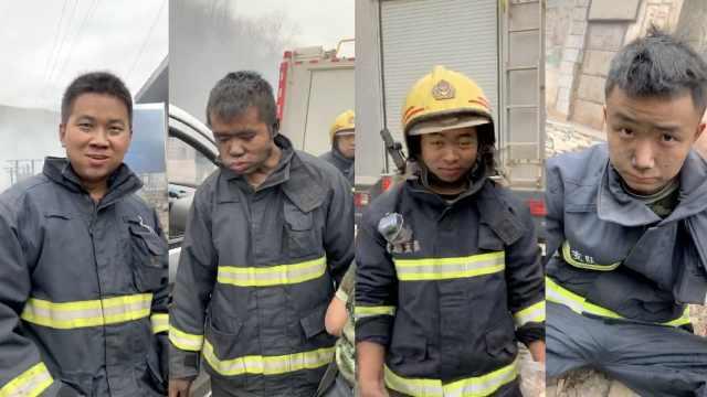 消防奋战10小时救2场火,灰手吃包子