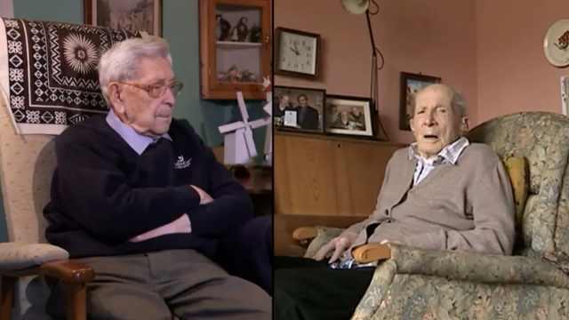 英最长寿俩老人:同天过111岁生日