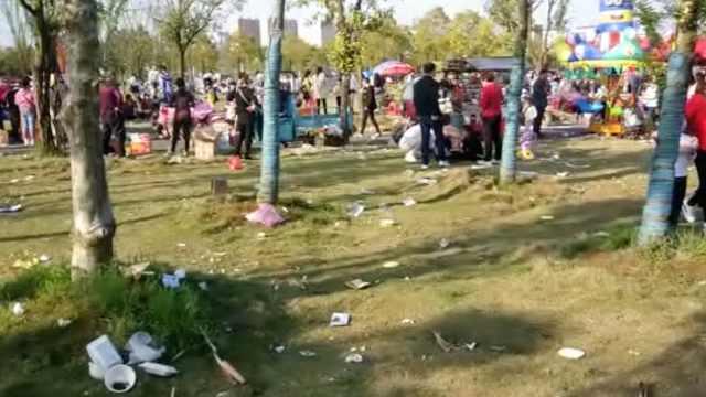 游客踏青垃圾遍地,环卫劝阻反遭怼