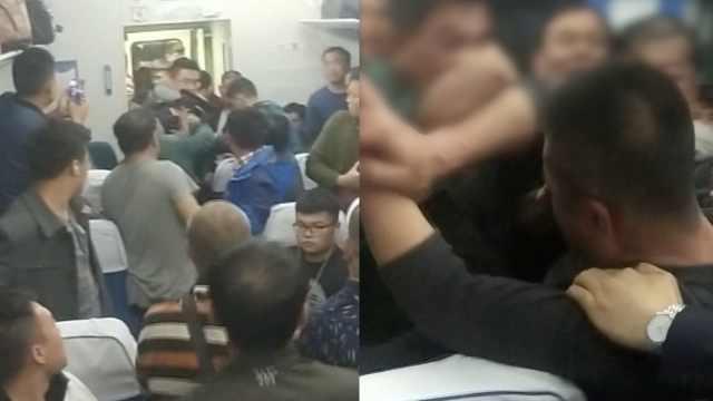 醉酒男强坐女孩腿,遭同车乘客群殴