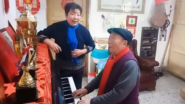 夫妻一生无子,80岁用电脑创作音乐