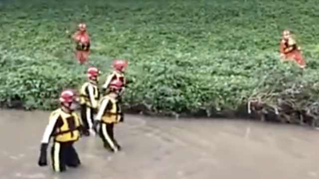 深圳强降雨引发洪水,多人被水冲走