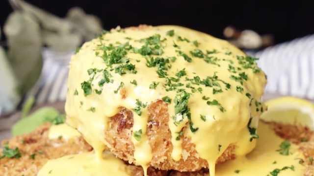 蟹肉的鲜甜搭配黄油的醇厚,好吃!