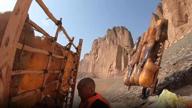 羊皮筏子,黄河上最传统的交通工具