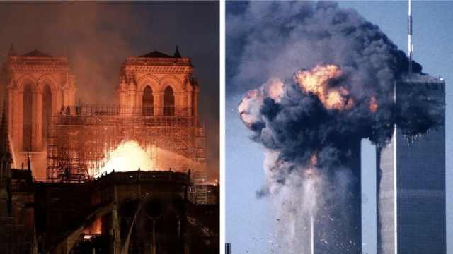 油管误将巴黎圣母院大火与911关联