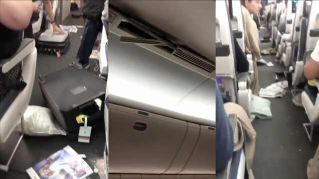 飞机剧烈颠簸行李被甩飞,14人送医