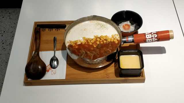 芝士奶盖米线,灵感源于富士山的雪