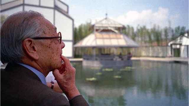 贝聿铭85岁担苏州博物馆新馆设计师