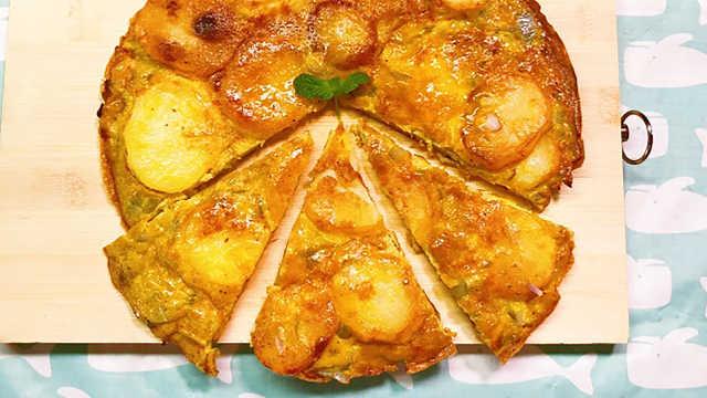 一份西班牙蛋饼,一天的悠闲惬意!