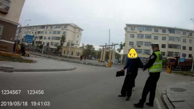 男子酒驾撞老太逃逸,民警1小时抓回