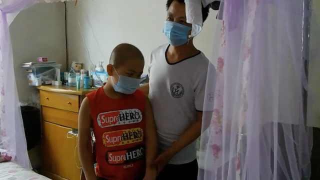 尘肺病父亲照料9岁白血病儿:先救他