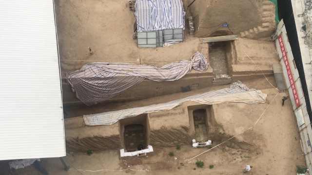 小区挖出西汉墓,久难回填业主不便
