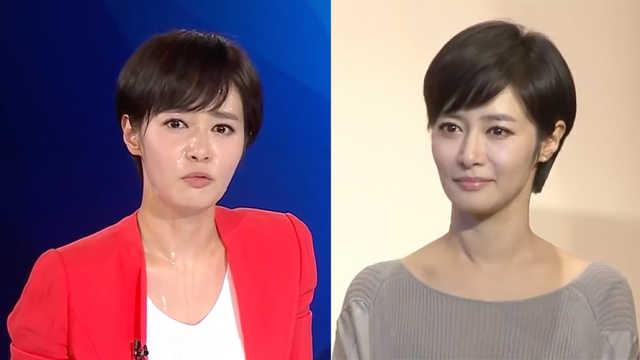 韩女主播直播时直冒冷汗,坚持播报