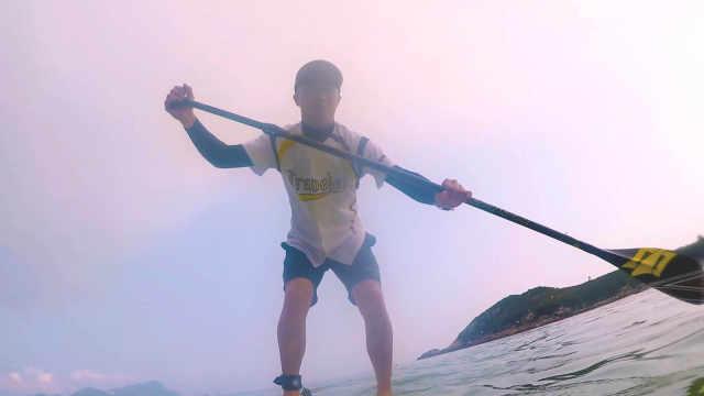 掌握桨板诀窍,不会游泳也能下水!