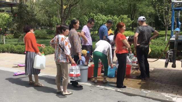 大热天管道开裂,千户居民断水近1周