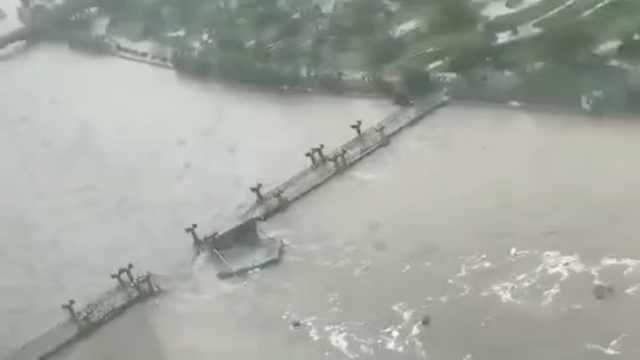 洪灾冲毁钢构桥,江西146万人受灾