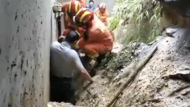 宜宾暴雨致山体滑坡,村民齐腰被埋