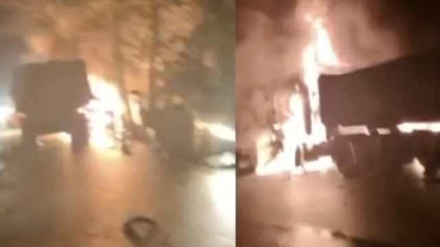 峨眉山多车相撞1车起火,已致1死8伤
