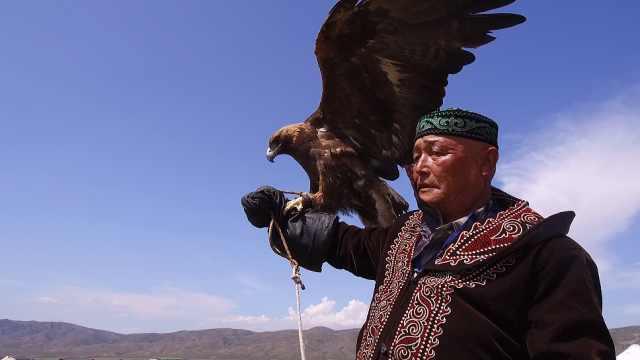 哈萨克族训鹰人:养金雕如同养宠物