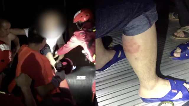 台风天积水2米,男子困家中被狗咬伤