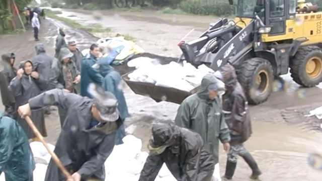 黑龙江持续降雨县城内涝,400人救援