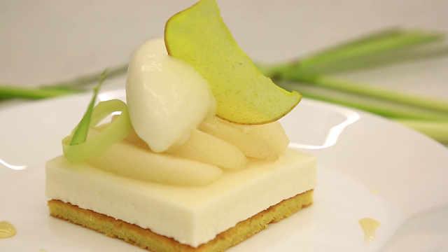 柠檬草冰淇淋与香梨慕斯