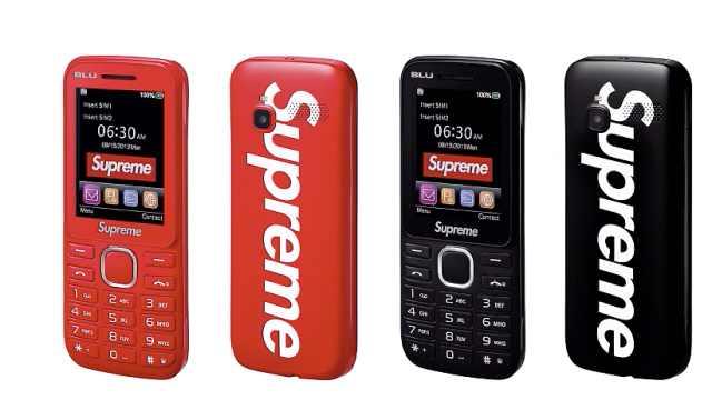 5G都来了,潮牌Supreme推出3G手机