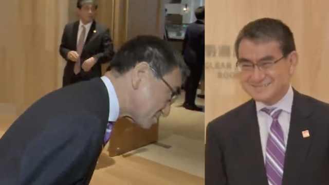 皮!日本外相酸韩国记者用佳能尼康