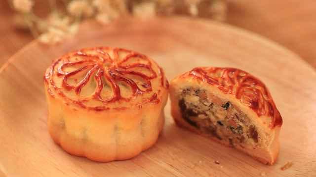 五仁月饼在家做,甜而不腻超好吃!