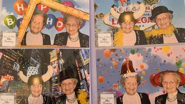 可爱!95岁英国双胞胎奶奶视频走红