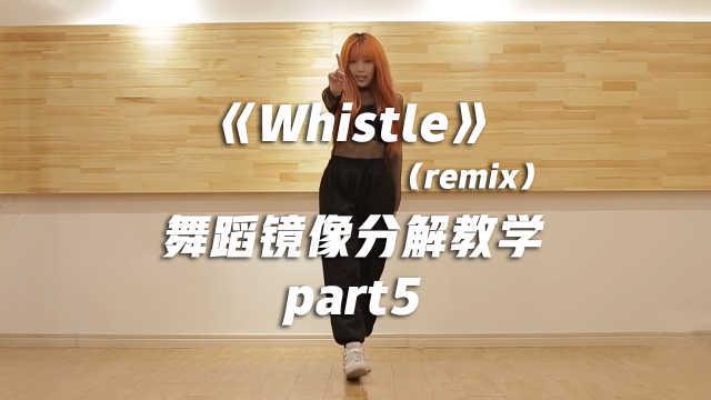 《Whistle》舞蹈镜像分解教学part5
