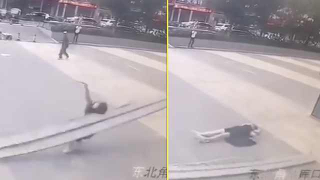 监控曝光!女孩被高空坠物砸中身亡