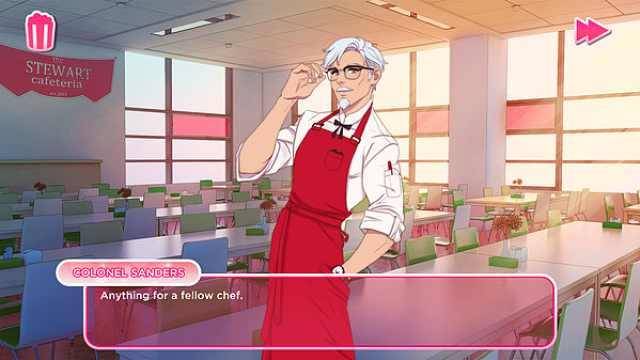 肯德基上校变型男,KFC出恋爱游戏