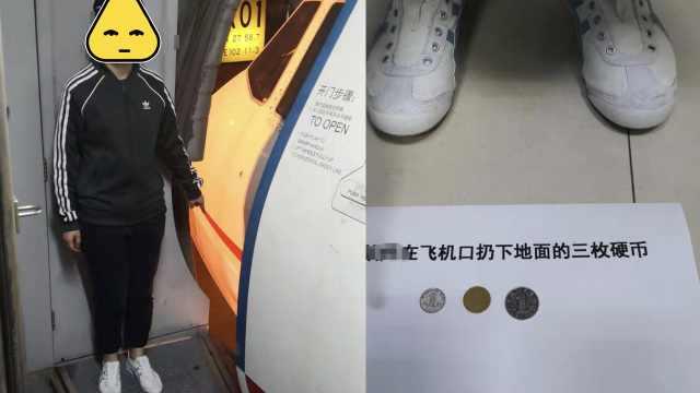 大学生向机坪扔3硬币避灾:不知违法