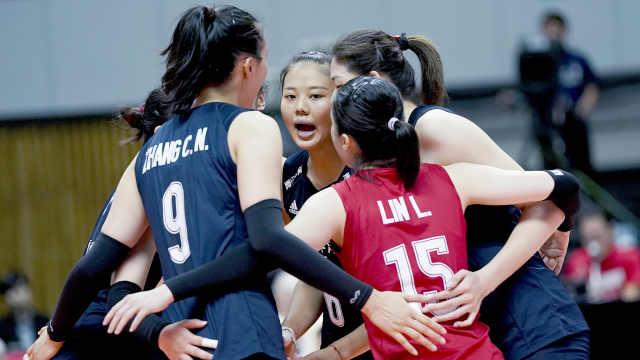 朱婷轮休,中国女排3-0豪取八连胜