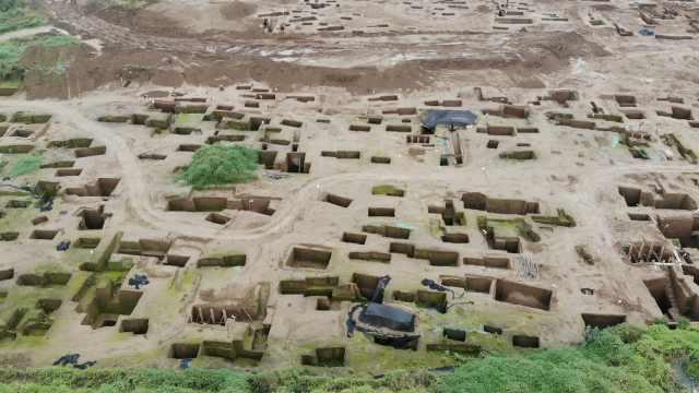 密密麻麻!西安宜家工地挖出古墓群