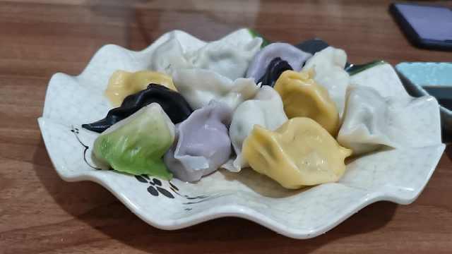彩色水饺貌美味赞,各色海鲜1次尝够