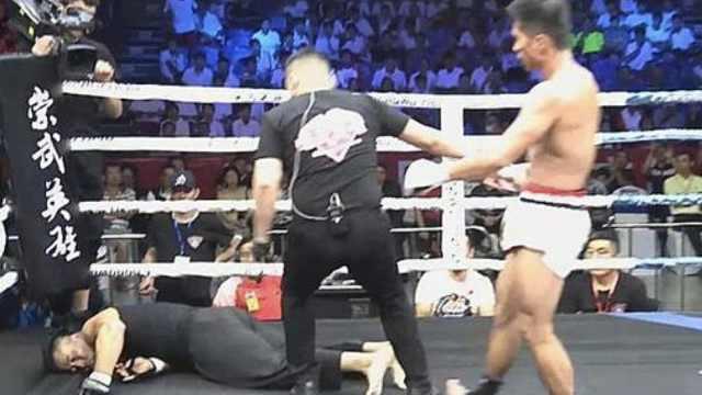 咏春大师74秒被KO,倒地昏迷不醒