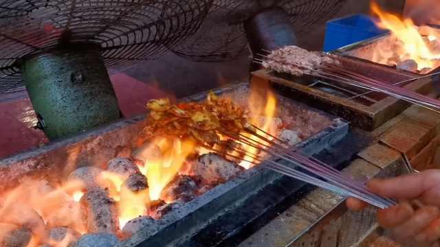 大西北烧烤,烤韭菜跻身烤素菜榜首