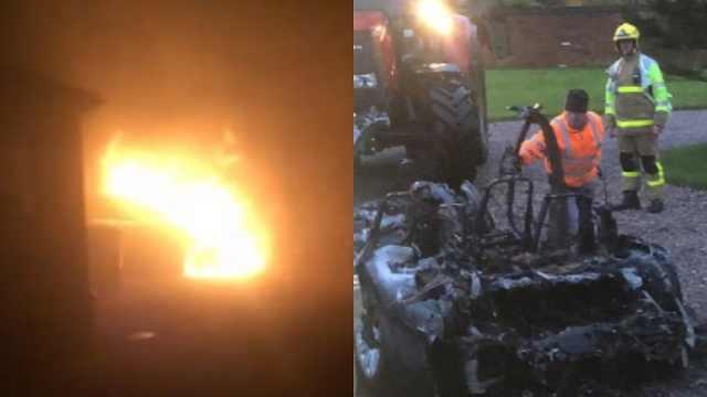 惊恐!英国一辆特斯拉充电时自燃