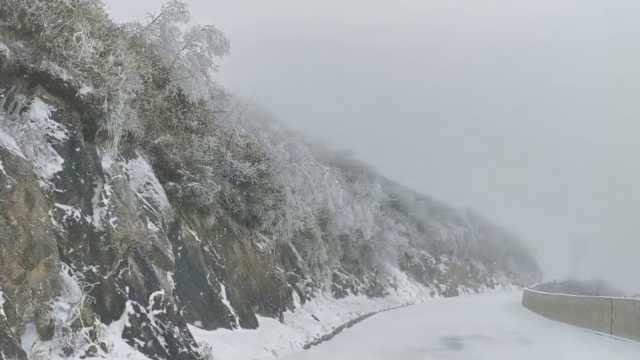 认真的雪!达州初雪,一下就积10厘米