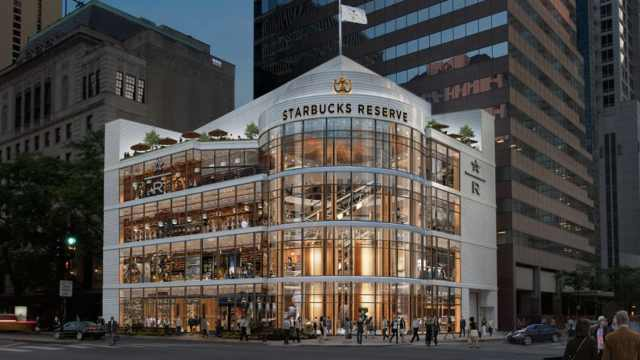 世界最大星巴克门店在芝加哥开张!