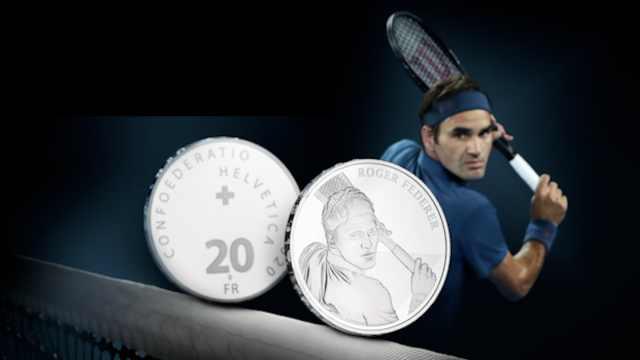 瑞士为费德勒铸造纪念币!金银两款