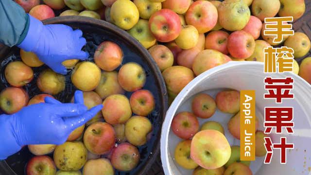 买300斤苹果手工榨汁,纯手工