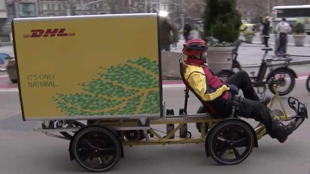交通拥堵,纽约试行用自行车送快递