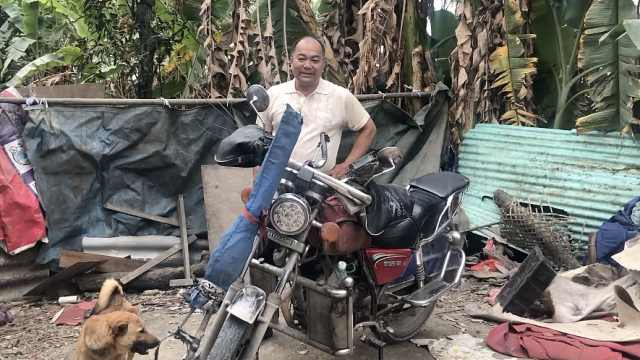 他放弃摩托改自驾返乡:平时坐高铁
