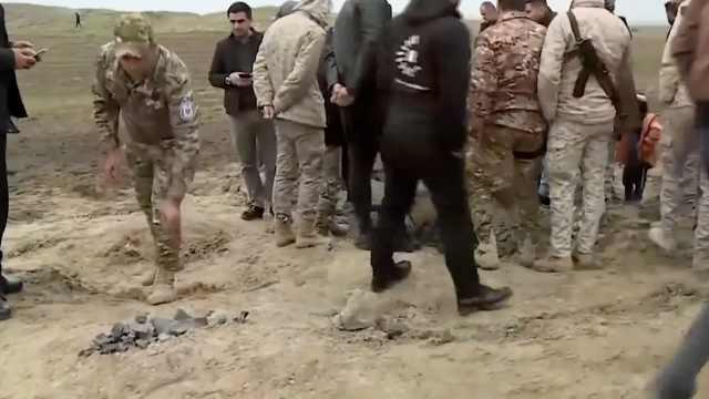 美基地导弹残骸曝光,伊拉克人愤怒